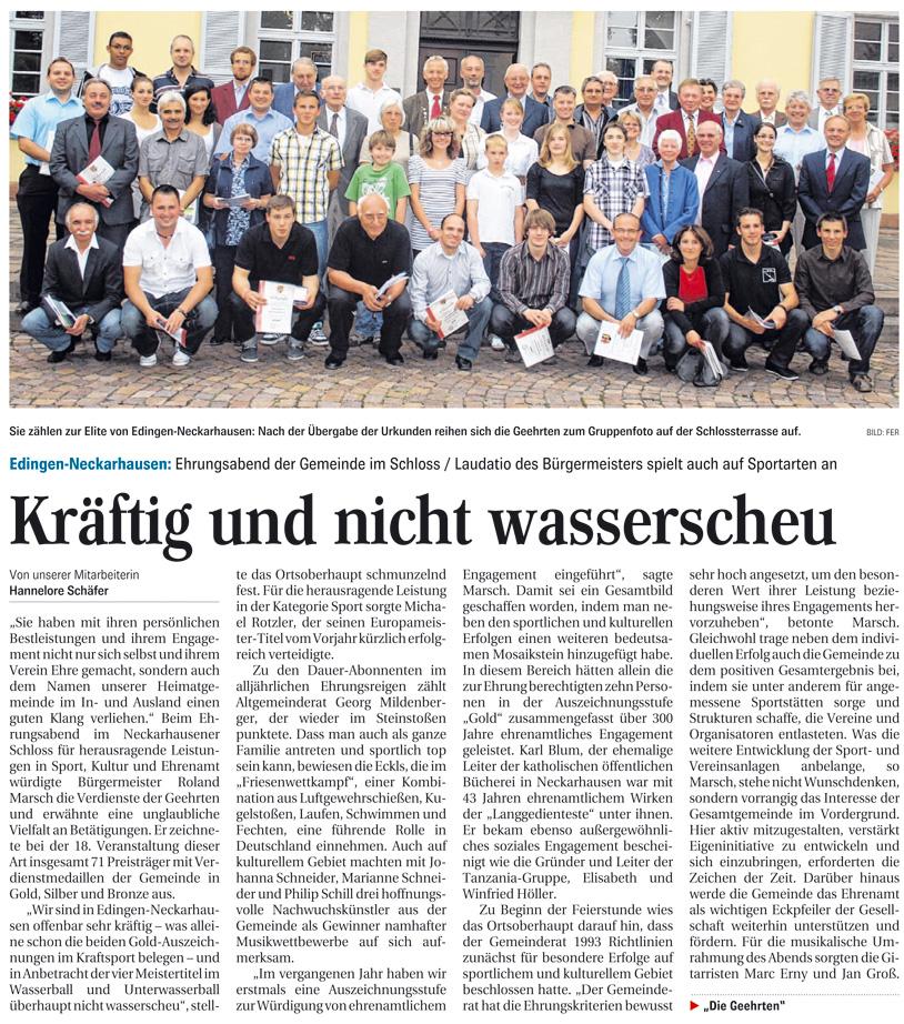 Bericht Gemeindeehrung