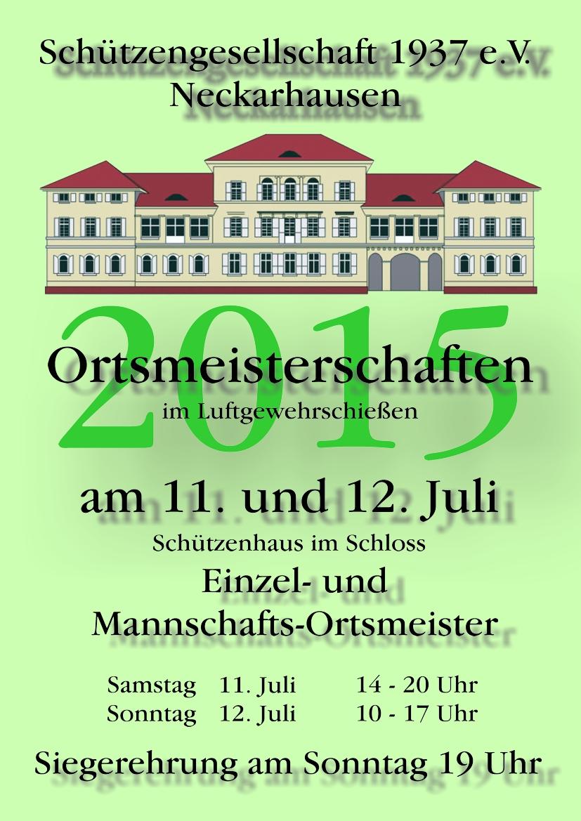 Plakat Ortsmeisterschaften