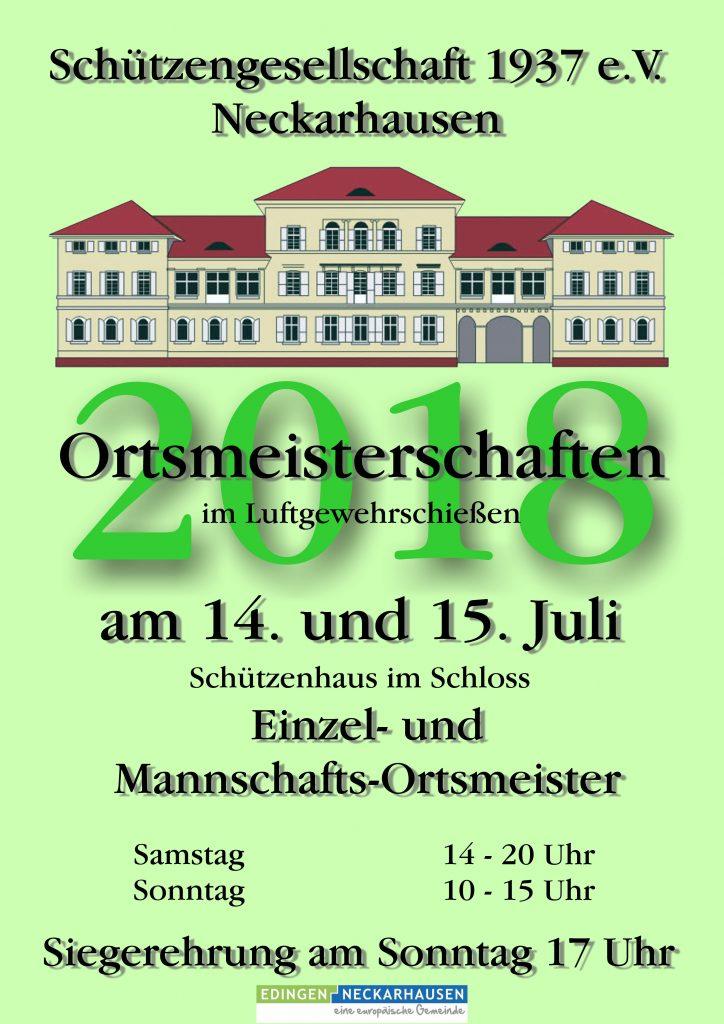 Plakat Ortsmeisterschaften 2018