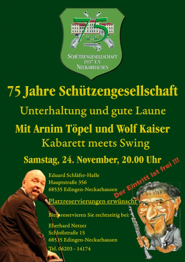 Plakat 75 Jahre SG Neckarhausen